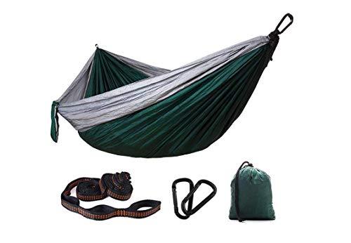 Pkfinrd Garten Doppel-Outdoor-Hängematte, einzigartige Indoor Camping Fallschirm Stuhl Schaukel Hängesessel tragbaren Garten Wandern Short Beach Courtyard - D / 300 * 200Cm