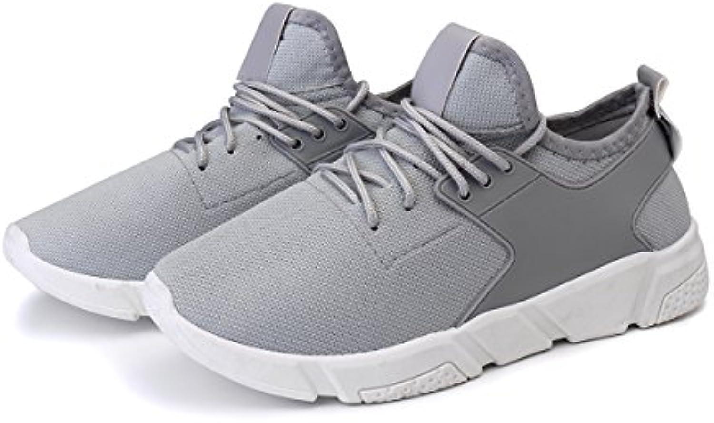 Bluelover Moda Hombres Atletismo Casual Zapatos Malla Transpirable Deportes Running Entrenamiento Zapatillas -