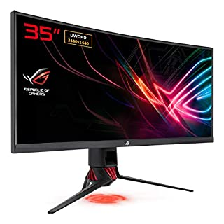 ASUS ROG Strix XG35VQ - Monitor Curvo de Gaming 35 Pulgadas (UWQHD 3440x144, 100 Hz, Extreme Low Motion Blur, Adaptive-Sync, FreeSync) (B0777X5MDT) | Amazon price tracker / tracking, Amazon price history charts, Amazon price watches, Amazon price drop alerts