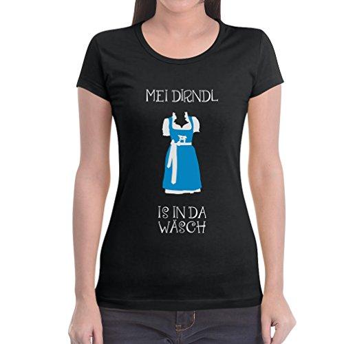 Trachtenshirt Witziger Dirndl Ersatz - Mei Dirndl Is In Da Wäsch Frauen T-Shirt Slim Fit XX-Large (2017 Kostüm Für Nummer Eins)