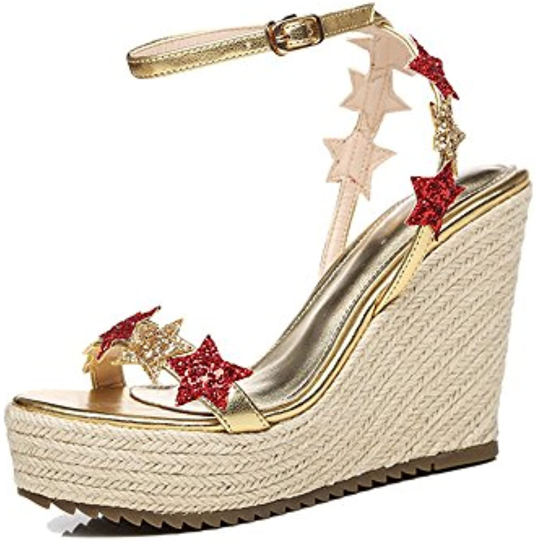 ZHIRONG Sandali estivi da donna Moda piattaforma impermeabile paillettes cunei stelle scarpe da spiaggia con fondo... | A Buon Mercato  | Scolaro/Ragazze Scarpa