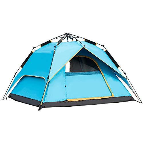 ZHANGJN Campingzelt für 3-4 Personen - Automatisches Outdoor-Zelt, sofortige Cabana-Überdachung, wasserdicht, für Outdoor-Sport, Wandern, Reisen, Familienurlaub