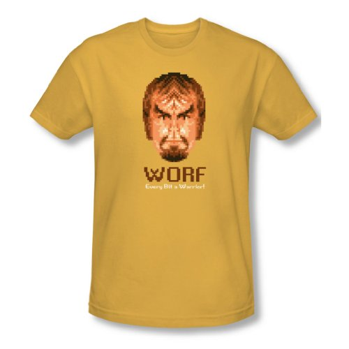Star Trek - Herren Bit Krieger T-Shirt In Gold Gold