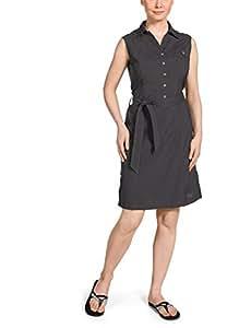 Jack Wolfskin Damen Kleid Sonora Dress, Dark Steel, XS, 1400501-6032001