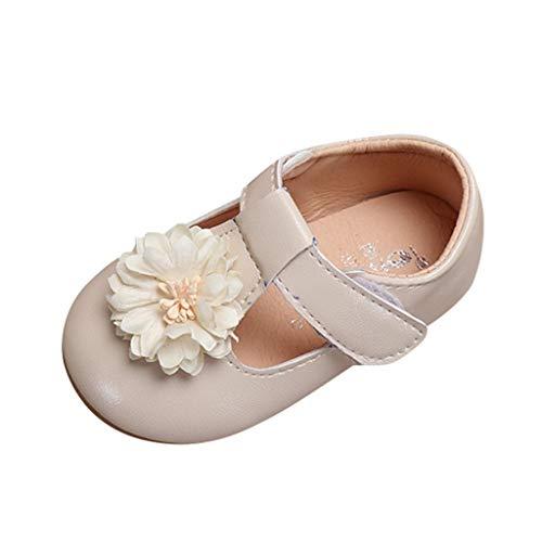 SOMESUN Baby Mädchen Prinzessin Modisch Schnürhalbschuhe Süß Elegant Blumen Perle Weich Einfarbig Freizeit Tanzschuhe Lederschuhe Kleinkind Bequem Schuhe