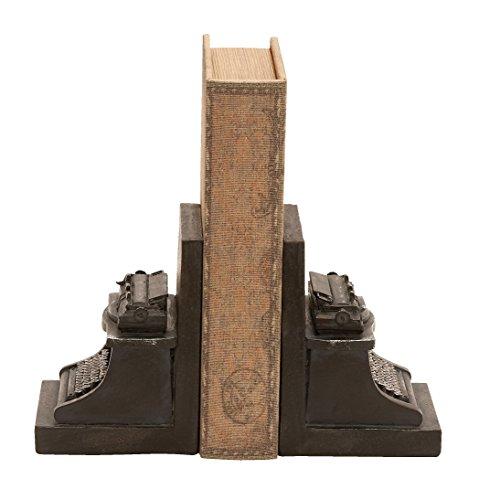 Deco 79Polystein Schreibmaschine Buchstütze, 7von 12,7cm, Set von 2