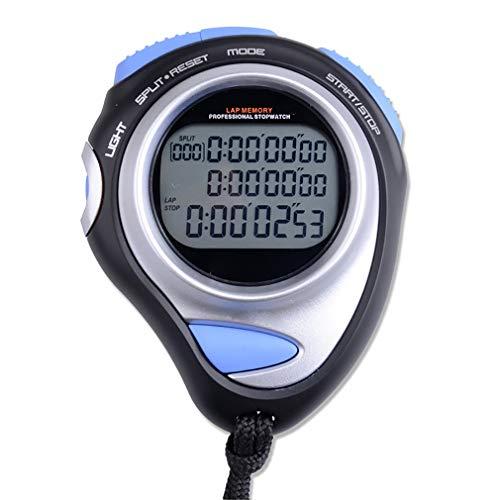 Stoppuhr mit Chronograph DREI Reihen mit 80 Speicherkanälen, Countdown, Metronom, Nachtlicht 100 Speicherkanäle ()