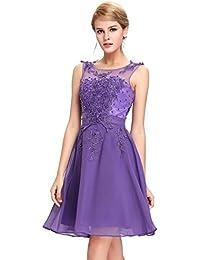 GRACE KARIN Vestido Elegante para Boda Ceremonia De Vuelo Encaje Floral Precioso Maxi
