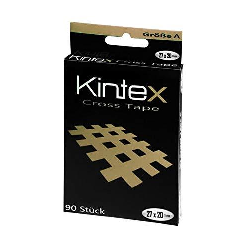 Kintex Cross Größe A (27mm x 20mm) 90 Pflaster Farbauswahl Sport Tape, Beige, One Size