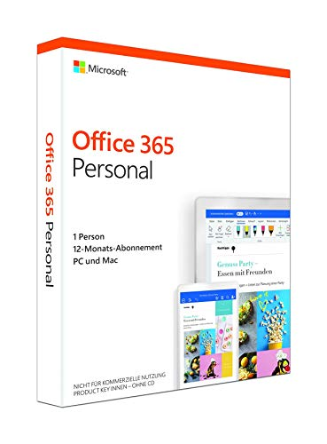 Microsoft Office 365 Personal multilingual | 1 Nutzer | Mehrere PCs / Macs, Tablets und mobile Geräte | 1 Jahresabonnement | Box (2013 Office Home Office Microsoft)