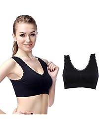 363f05f6ee Kloius Women Seamless Sports Bra Spandex Workout Bra Fitness Yoga Wire Free  Padded Sports Bra
