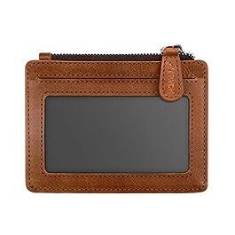 Arvok Carte di Credito e Tasche Pelle, RFID Blocco Portafoglio, Porta Carte di Credito con Cerniera in Metallo per…