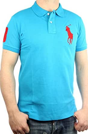 Polo by Ralph Lauren Polo pour homme Big Pony coupe slim (Turquoise/rouge)