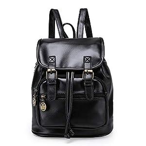 414c8Xs4IpL. SS300  - TIBES cuero grande PU del morral mochila estudiantil mochila casual mochila mujer B marrón