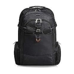 Everki Titan - Laptop Rucksack für Notebooks bis 18,4 Zoll (46,7 cm) mit durchdachtem Fächer-Konzept, viel Stauraum und weiteren hochwertigen Funktionen, Schwarz