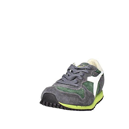 Diadora Trident S SW, Scarpe da Ginnastica, Uomo verde-grigio