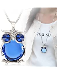 Trendy & Stylish Long Owl Pendant Chain Necklace For Girls & Women | Owl Jewelry