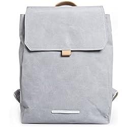 Rawrow R 290 Daypack Wasserabweisend Waxed Canvas 13 Zoll Laptop Rucksack Backpack Grau