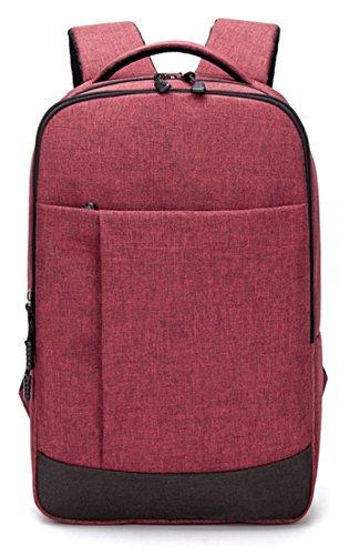 Student Rucksack Wasserdichte Oxford Schritt Rucksack High School Tasche Computer Tasche,Burgundy (High-school-datum)