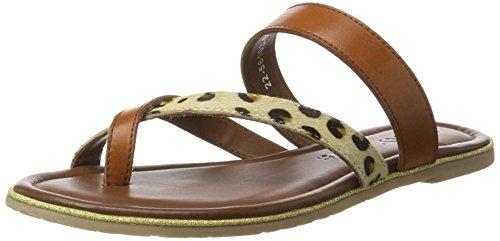 Jenny 22-56103, Ciabatte Donna Marrone (New-Cuoio,Leopard)