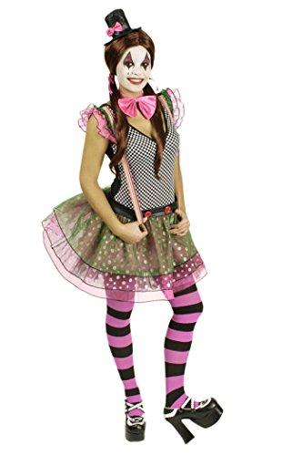 ür Damen | Größe 44-46 | 4-teiliges Narrenkostüm | Clownin Faschingskostüm für Frauen | Närrin Kostüm für Karneval (Karneval Kostüm-ideen Für Frauen)