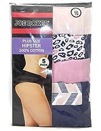 df6e56bef Joe Boxer Women s Plus Size Hipster Panties - 5 Pack