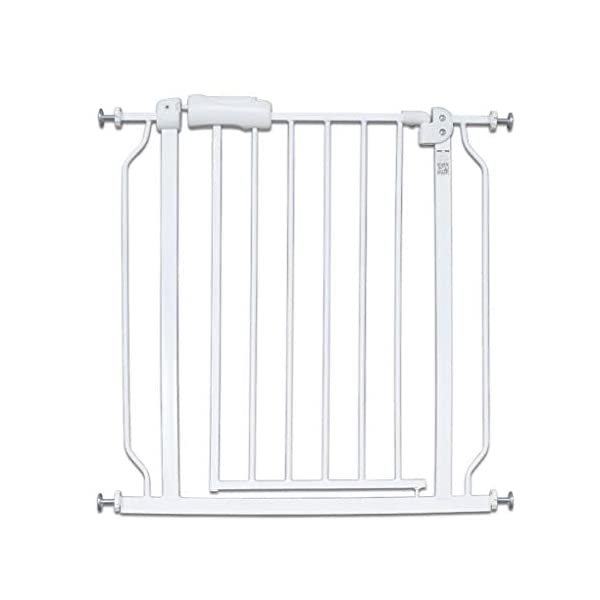 Baby child safety gate bar baby stairway fence pet fence dog fence pole isolation door dog fence AA-SS-Safety Door ♥Squeeze and lift handle for easy one handed adult opening ♥Quick-release fittings for removal when not required ♥Includes stop pins for mounting at the top of stairs 1