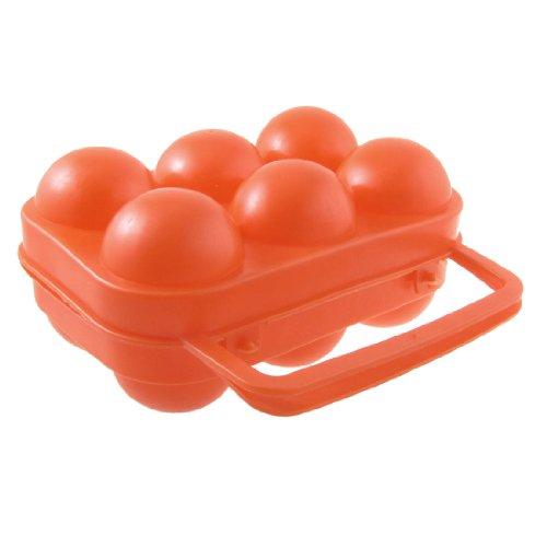 Vassoio Contenitore per Uova Richiudibile Colore Rosso Arancio in Plastica