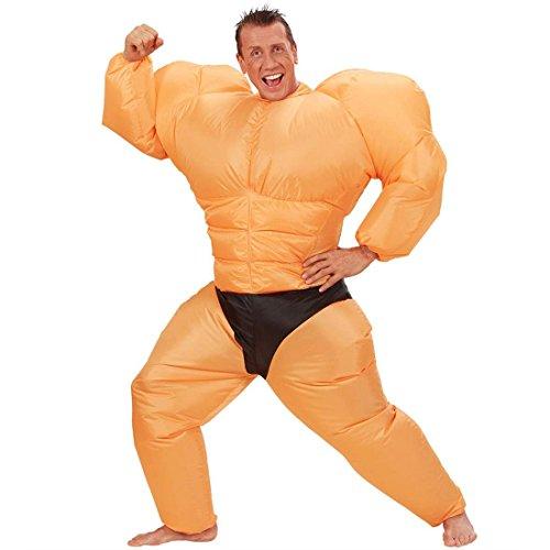 Kostüm Boxer Nette - NET TOYS Aufblasbares Muskel Kostüm Ringer Ganzkörperkostüm Ganzkörper Muskelkostüm Sumo Männerballett Boxer Faschingskostüm JGA Party Herrenkostüm