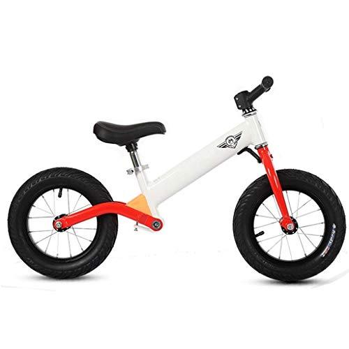 Bicicleta Sin Pedales Ultraligera Bicicleta de equilibrio, sin pedales Bicicleta de carrera para 2 3 4 5 6 años de edad Muchachos niños - Mini bicicleta de empuje de aluminio de Early Rider, neumático