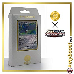Staraptor 83/111 Holo Reverse - #myboost X Sun & Moon 4 Crimson Invasion - Box de 10 cartas Pokémon Inglesas