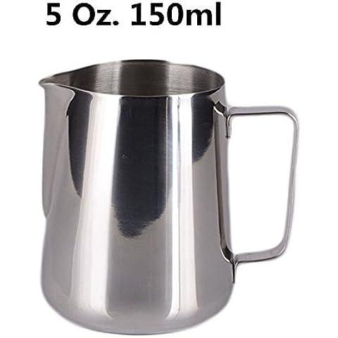 HULISEN Acciaio Inossidabile Caffè Espresso Pitcher Barista 150 ml 350 ml 600 ml Cucina Casa (Espresso Latte Art)