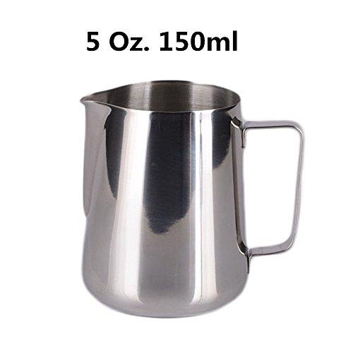HULISEN - Jarra de leche pequeña de acero inoxidable (150 ml)
