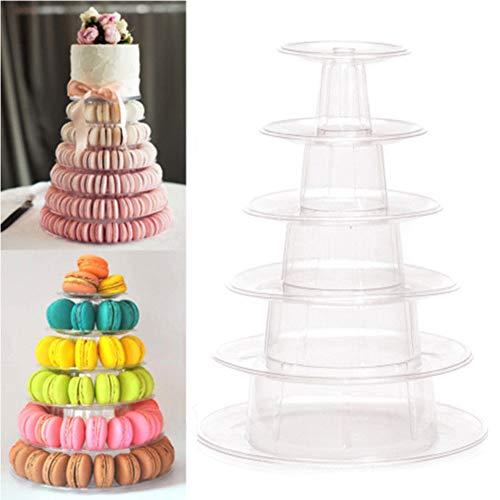 6étages Pro ronde Macaron Tour gâteau Nourriture support présentoir Rack pour mariage anniversa