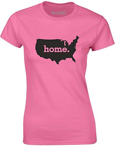 Brand88 - Home, Mesdames T-shirt imprimé Azalée/Noir