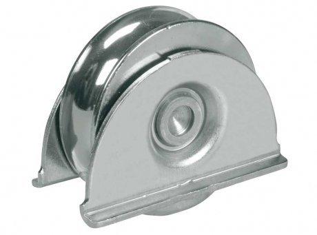 Roue de roue de roue de porte de 80 mm dans le support, porte coulissante, lourd pour barre de 16 mm