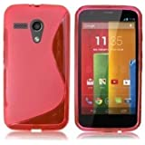 GADGET BOXX MOTOROLA MOTO G S-LINE SILICONE GEL IN PINK COVER CASE AND SCREEN PROTECTOR