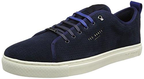 Ted Baker Herren Kaliix Sneaker, Blau (Dark Blue #0000ff), 45 EU (Ted Leder Halbschuhe)