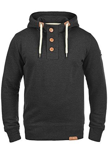 SOLID TripStrip Herren Kapuzenpullover Hoodie Sweatshirt aus hochwertiger Baumwollmischung Dark Grey Melange (8288)