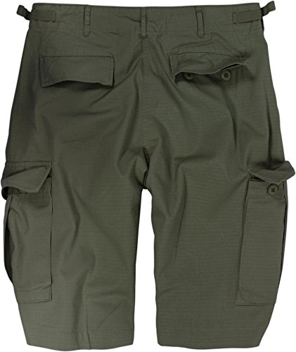 US Bermuda Shorts aus Ripstop-Gewebe (Baumwolle) [XS-4XL] Oliv