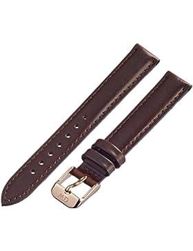 Daniel Wellington Damen-Uhrenarmband Classy Bristol Leder dunkelbraun Schließe rosegold DW00200062