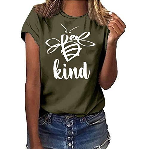 NPRADLA Frauen T-Shirt Mädchen Sommer Freizeit Plus Size Herz Print Shirt T Gym Laufen Weiche Lose Kurzarm Frau Bluse Tops