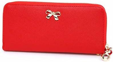 Le donne Cute bowknot borsa solida borsa Portafoglio Wearablec