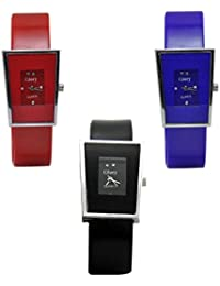 Glory multicolour analog watch combo for women- Pack of 3