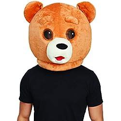 Bristol BM559 - Máscara de oso de peluche para hombre, mujer, color marrón, talla única