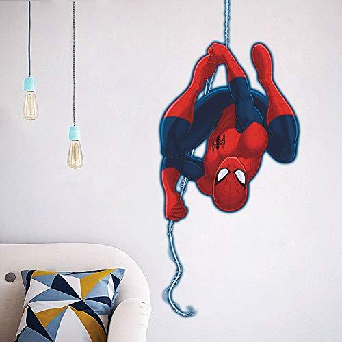 Kibi 3D-effekt Aufkleber Spiderman im Wanddurchbruch Loch Marvel\'s Spider-Man Ultimate Wandtattoo Kinderzimmer Spiderman Wandsticker Spiderman Wandaufkleber Spiderman