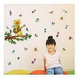 QTZJYLW Kreative Pvc-Wand-Aufkleber Karikatur, Die Katzenmuster Innenwanddekoration (45 × 60Cm) Singt