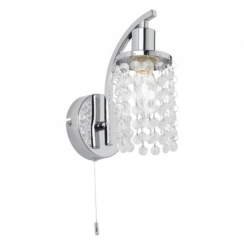 Wall light with pull cord amazon modern 1 light crystal wall light in chrome with pull switch garcia 1wbch mozeypictures Choice Image