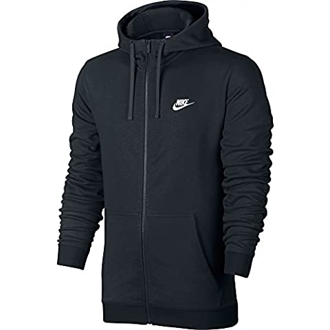 Nike M NSW Hoodie FZ FT Club - Sudadera para hombre, color negro, talla L