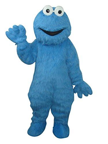 Happy Shop EU Cookie Monster Sesam Street Halloween Maskottchen Kostüm für Erwachsene Fancy Dress Outfit